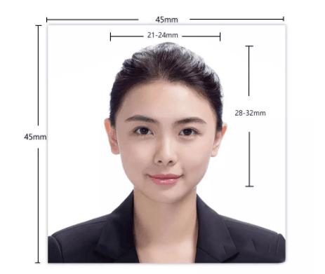 日本签证照片模版